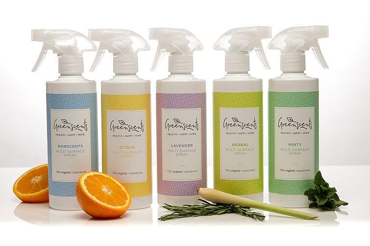 Greenscents multi surface sprays remove viruses