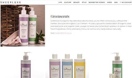 greenscents in sheer luxe