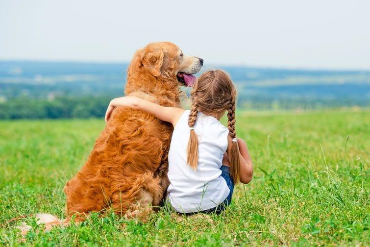 vegan girl loves her dog