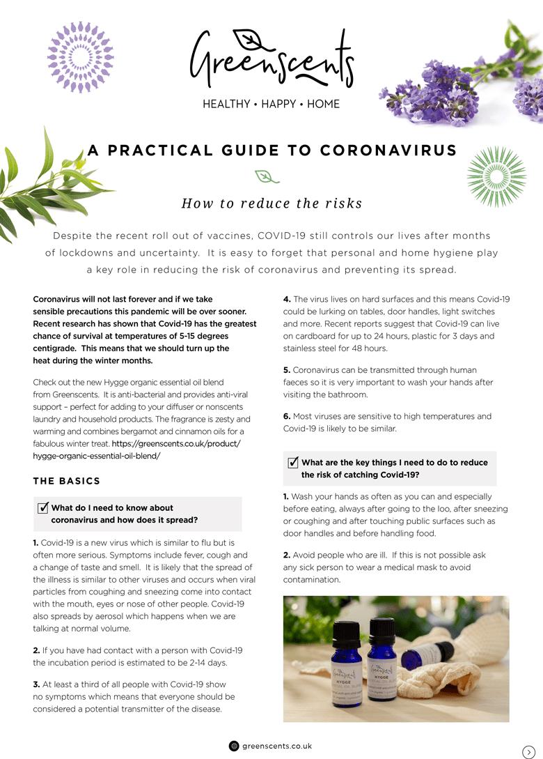Greenscents Practical Guide to Coronavirus