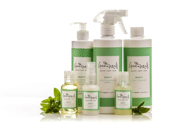 Greenscents organic cleaning products minty