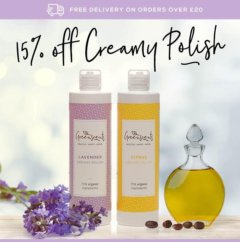 15% off creamy polish