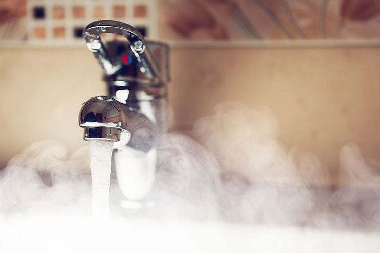 Hot water removes bacteria and viruses