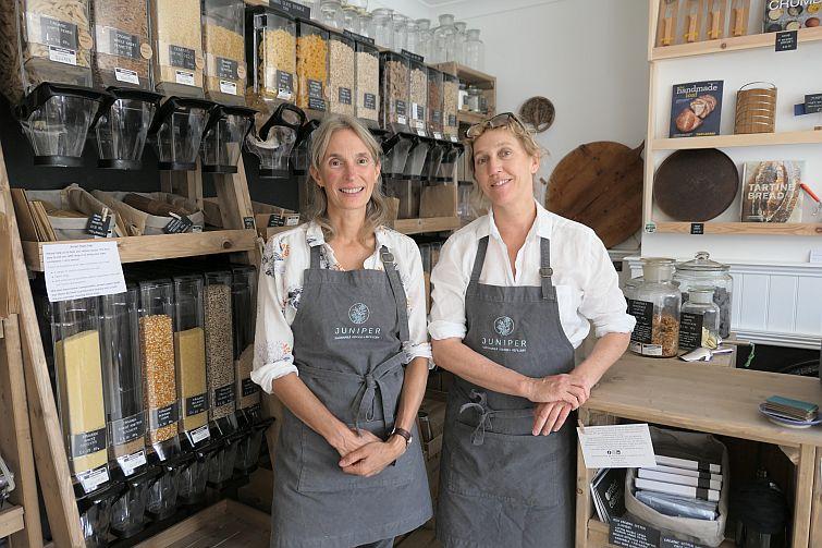 Vickie and Victoria of Juniper refill shop